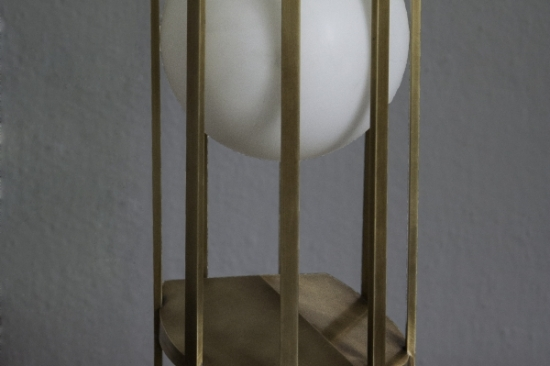 Luna, Table Lamp (Brass,Glass)