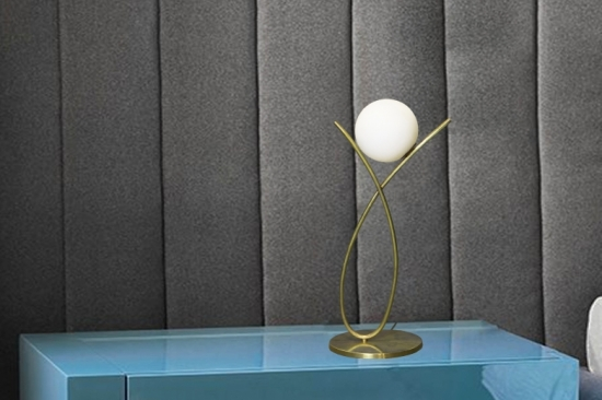Loop, Table Lamp (Glass,Brass)