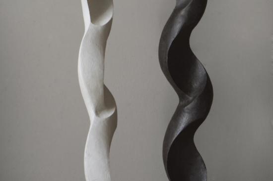 Leaf (bronze sculpture, 19,7in H x 6in W x 6in )