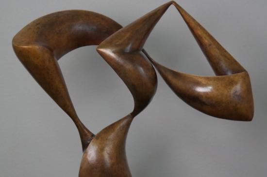 Tango (bronze sculpture, 19,7in H)