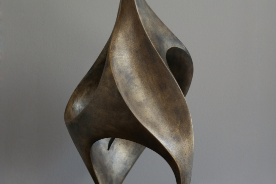 Flower (bronze, 21in, 53cm H)