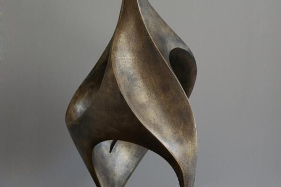 Flower (bronze, 21in, 53cm H)