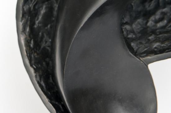Dancer, detail (bronze sculpture, 14,6in H x 8in W x 6in)