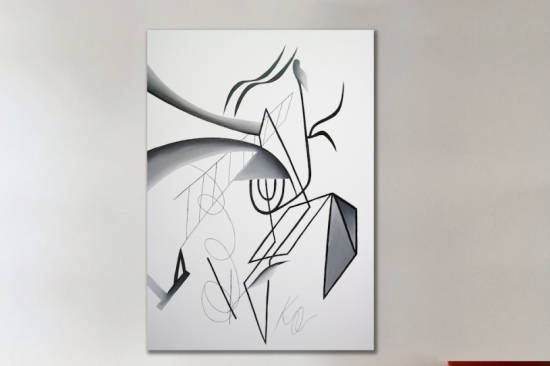 Composition VI (Oil on Canvas 65in H x47in W)