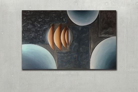 Night Sky (Oil on canvas 39x63in..120x160cm)